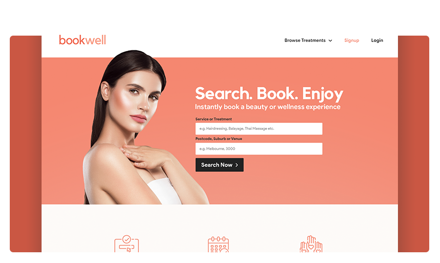 Bookwell Landing Page